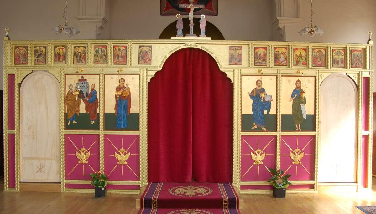 Church of the holy apostles iconostasis